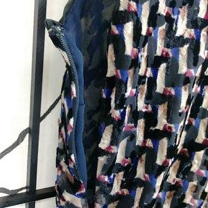 Marc By Marc Jacobs Dresses - Marc Jacobs Devore Velvet Dress Puzzle Print Silk